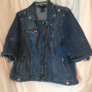 Great for layering stylish Jean jacket!